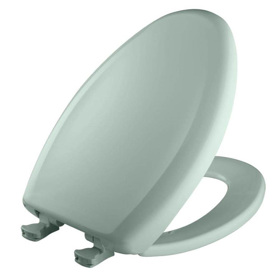 Bemis Lift-Off Seafoam Plastic Elongated Slow Close Toilet Seat