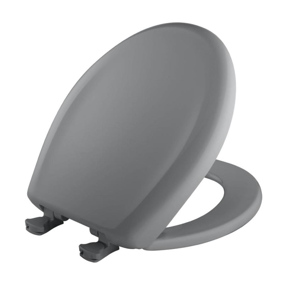 Bemis Lift-Off Country Grey Plastic Round Slow Close Toilet Seat