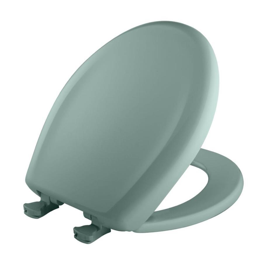 Bemis Lift-Off Spruce Green Plastic Round Slow Close Toilet Seat