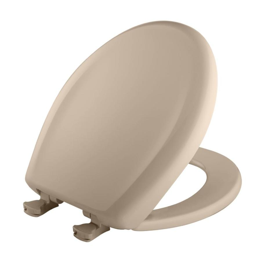 Shop Bemis Lift Off Beige Plastic Round Slow Close Toilet Seat At