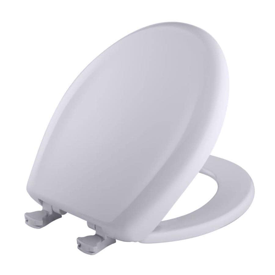 Bemis Lift-Off Lilac Gray Plastic Round Slow Close Toilet Seat