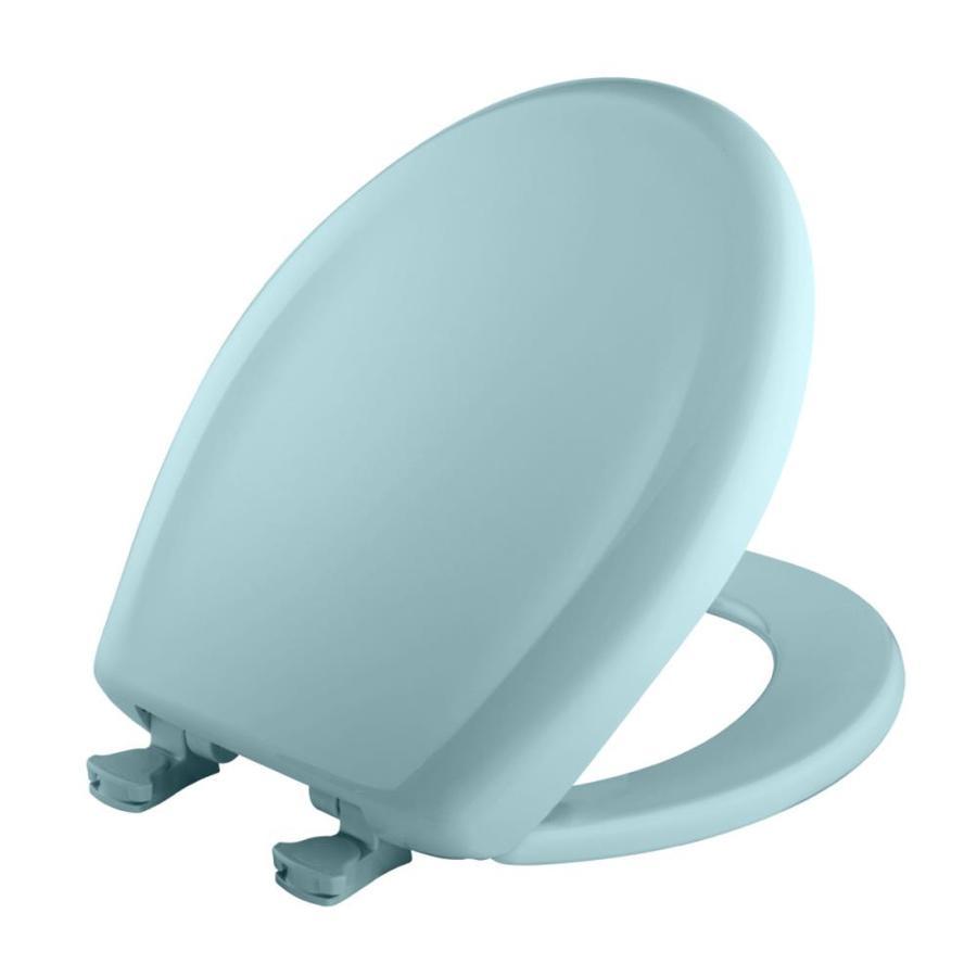 Bemis Lift-Off Light Turquoise Plastic Round Slow Close Toilet Seat