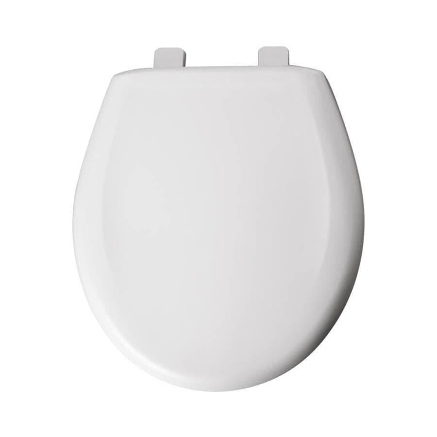 Shop Bemis White Plastic Round Toilet Seat At