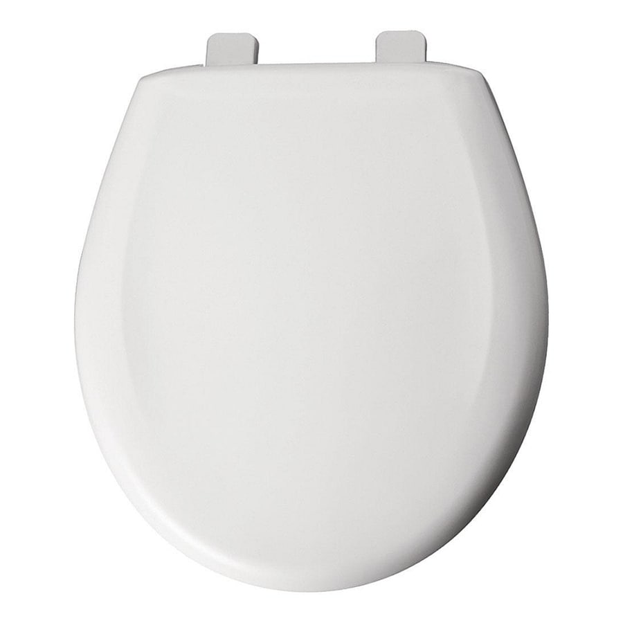 Shop Bemis White Plastic Elongated Slow Close Toilet Seat At
