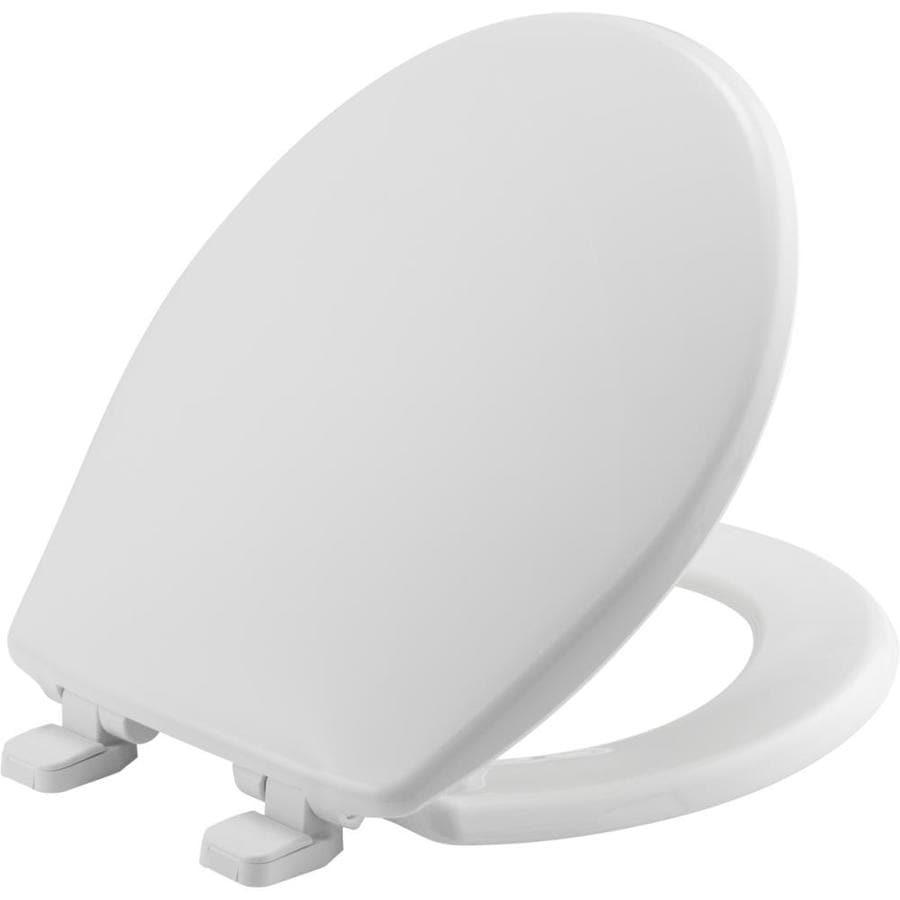 Bemis White Plastic Round Slow Close Toilet Seat