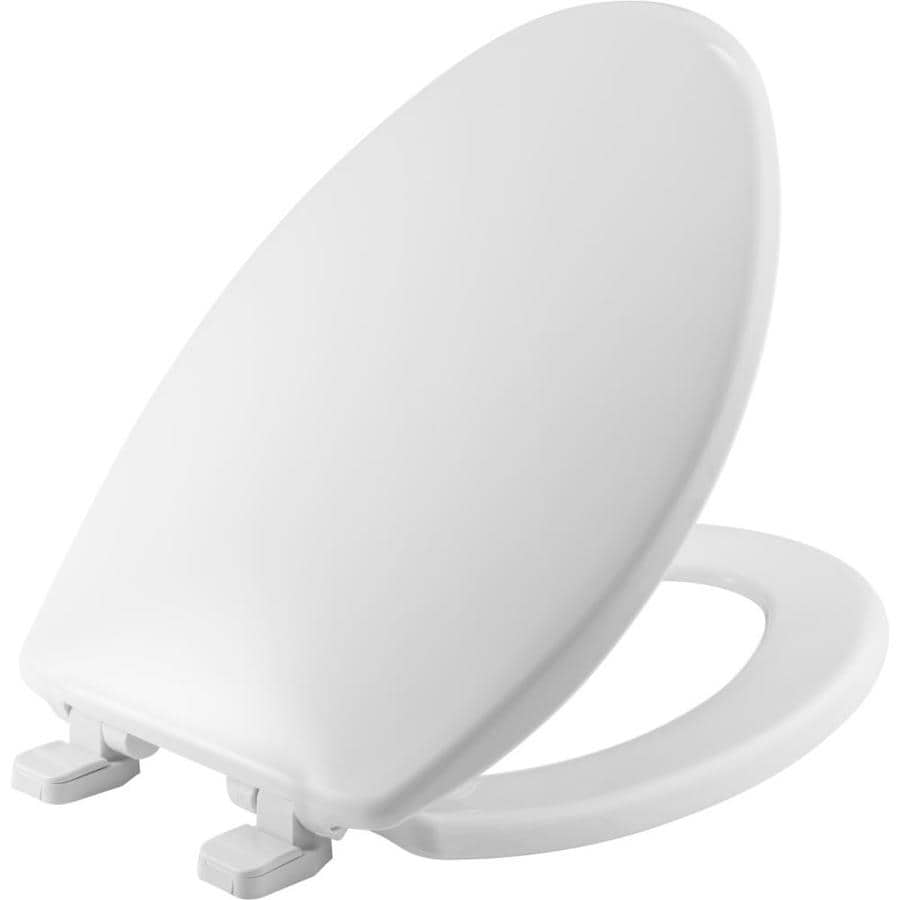 Shop Bemis White Plastic Elongated Slow Close Toilet Seat At