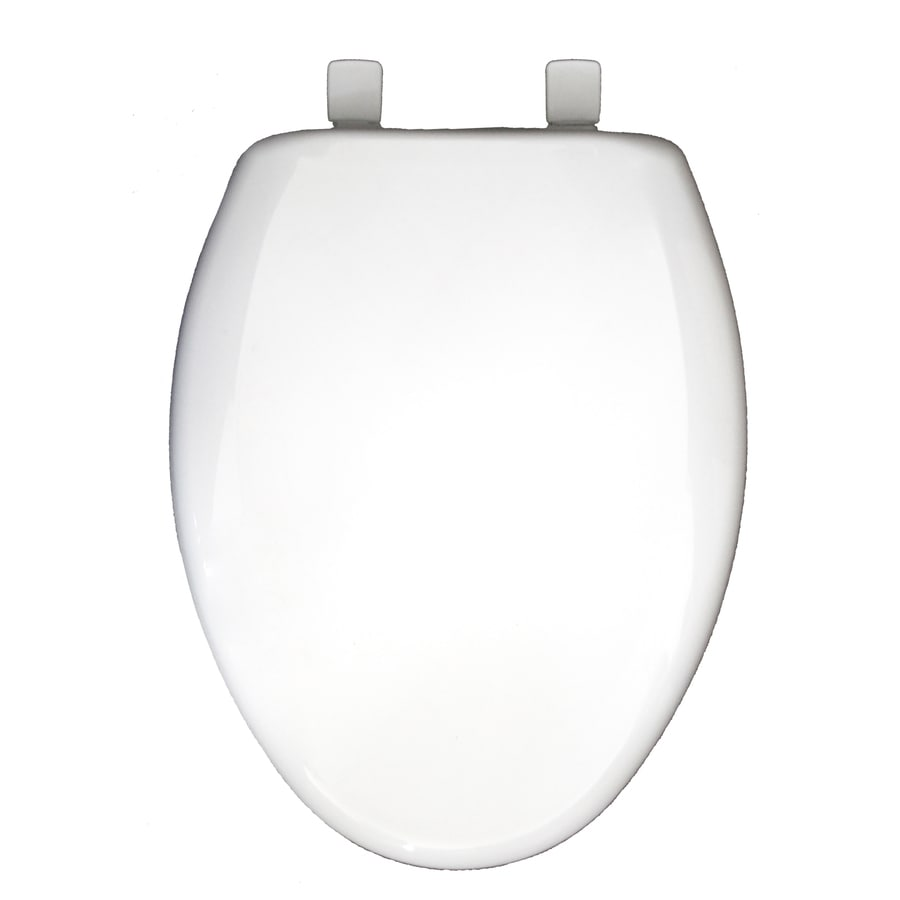 Church White Plastic Elongated Slow Close Toilet Seat