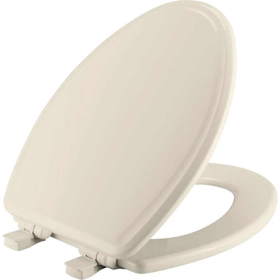 Church Biscuit Wood Elongated Slow-Close Toilet Seat