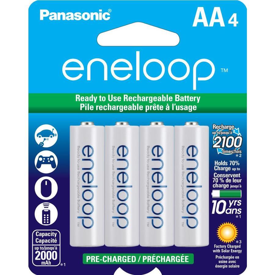 Panasonic 4-Pack AA Rechargeable Nickel Metal Hydride (NiMH) Battery