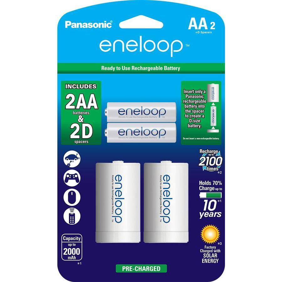 Panasonic 2-Pack AA Rechargeable Nickel Metal Hydride (NiMH) Battery