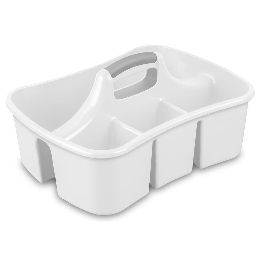 Sterilite Corporation White Plastic Bathtub Caddy