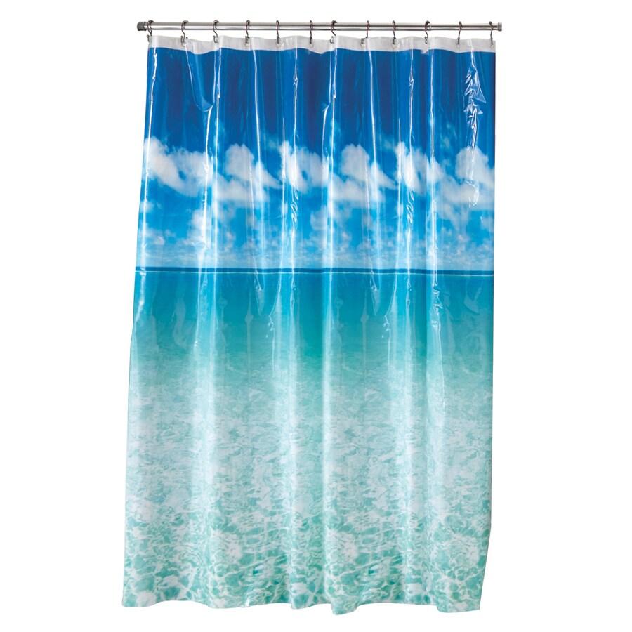 Shop Style Selections Eva Peva Blue Pictorial Shower