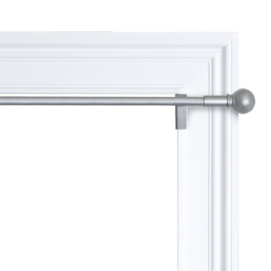28-in to 48-in Brushed Nickel Steel Single Curtain Rod