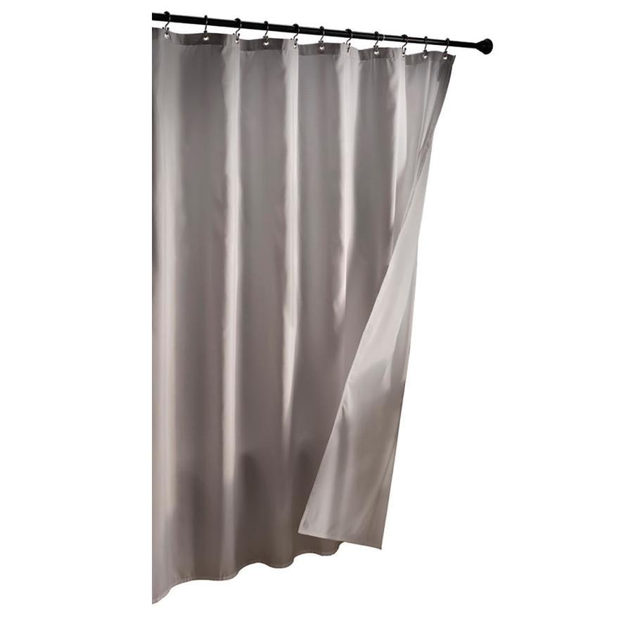 allen + roth Polyester Grey Solid Shower Liner
