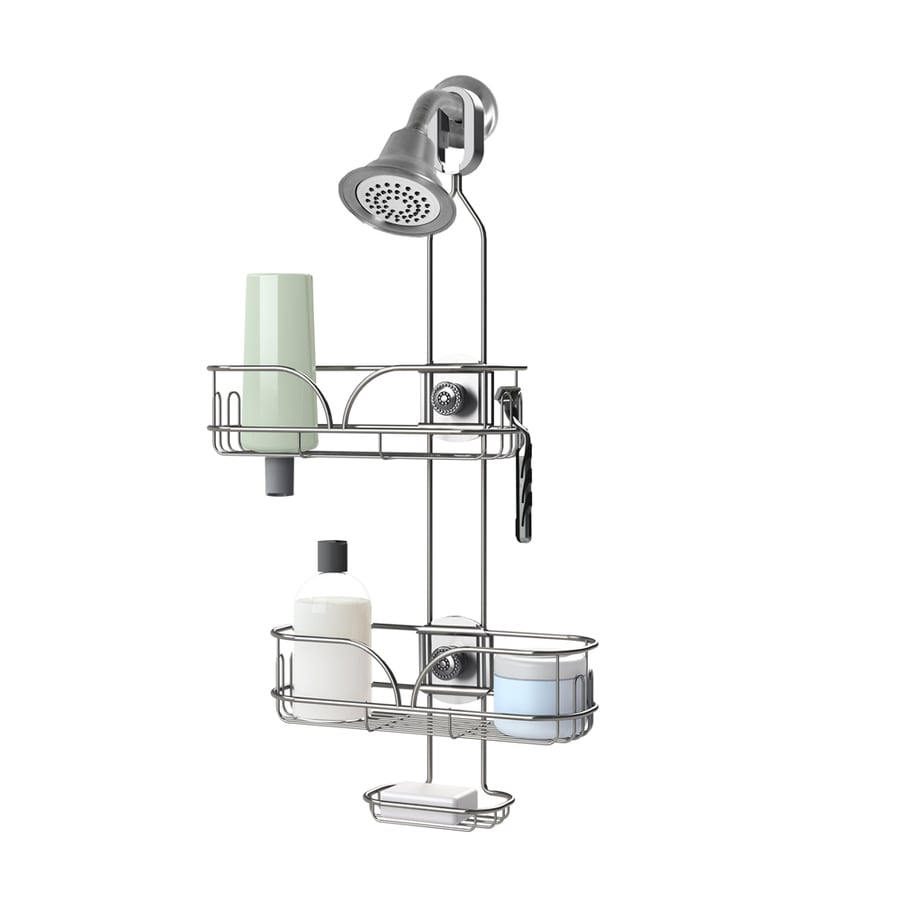25-in H Over-the-Showerhead Steel Hanging Shower Caddy