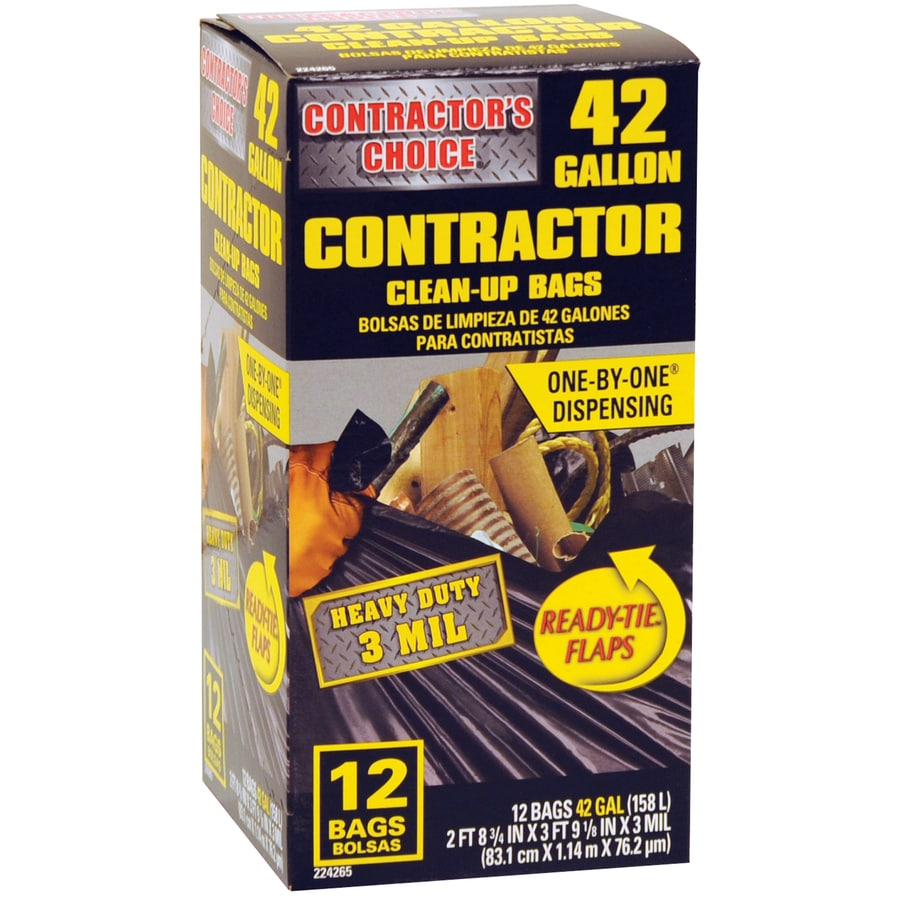 Contractor's Choice 12-Count 42-Gallon Trash Bags