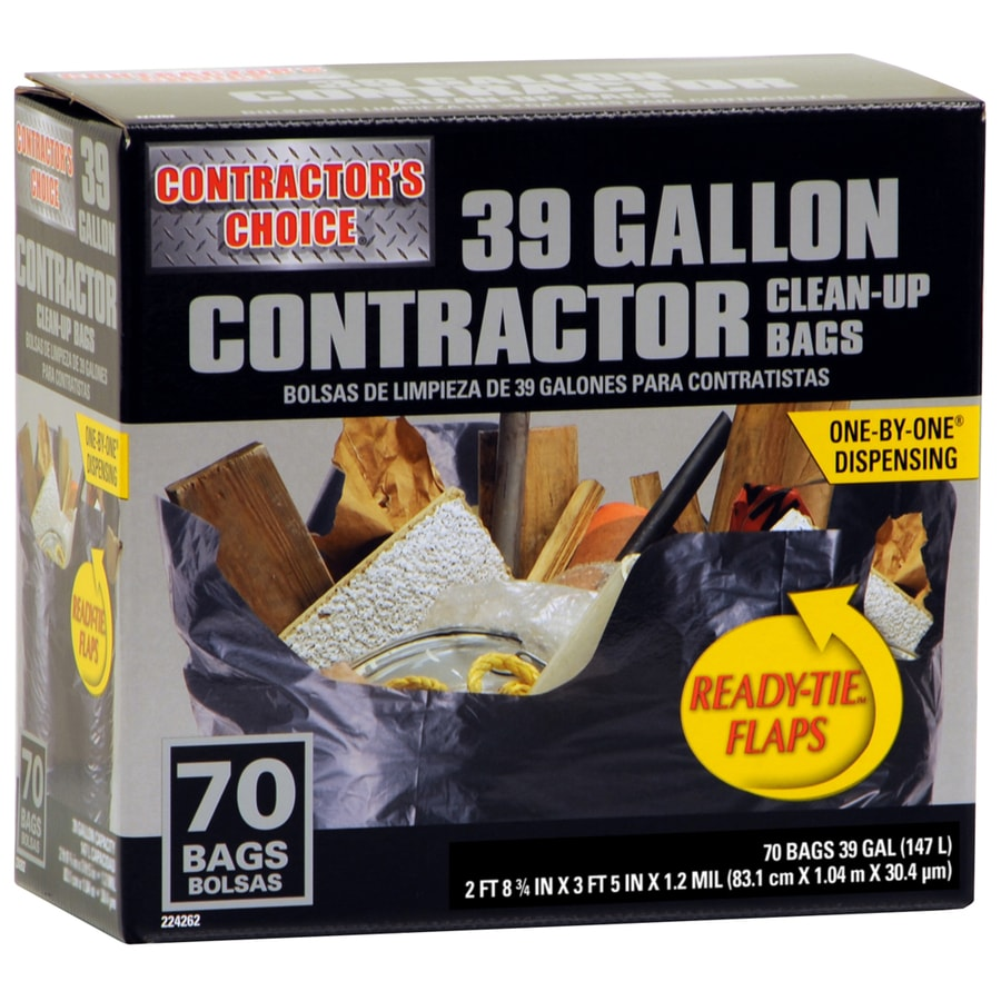 Contractor's Choice 70-Count 39-Gallon Outdoor Trash Bags