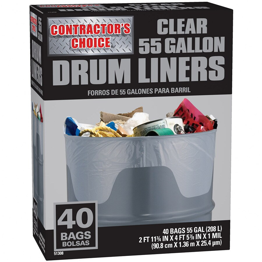 Contractor's Choice 40-Count 55-Gallon Trash Bags