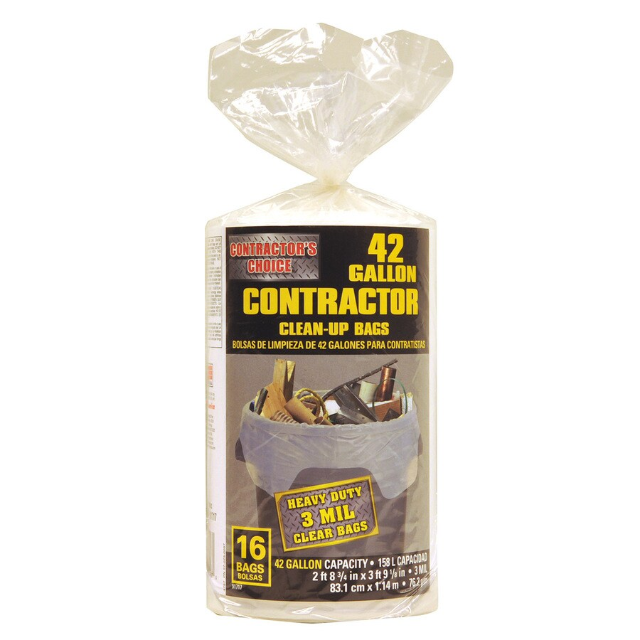 Contractor's Choice 16-Count 42-Gallon Plastic Outdoor Trash Bags
