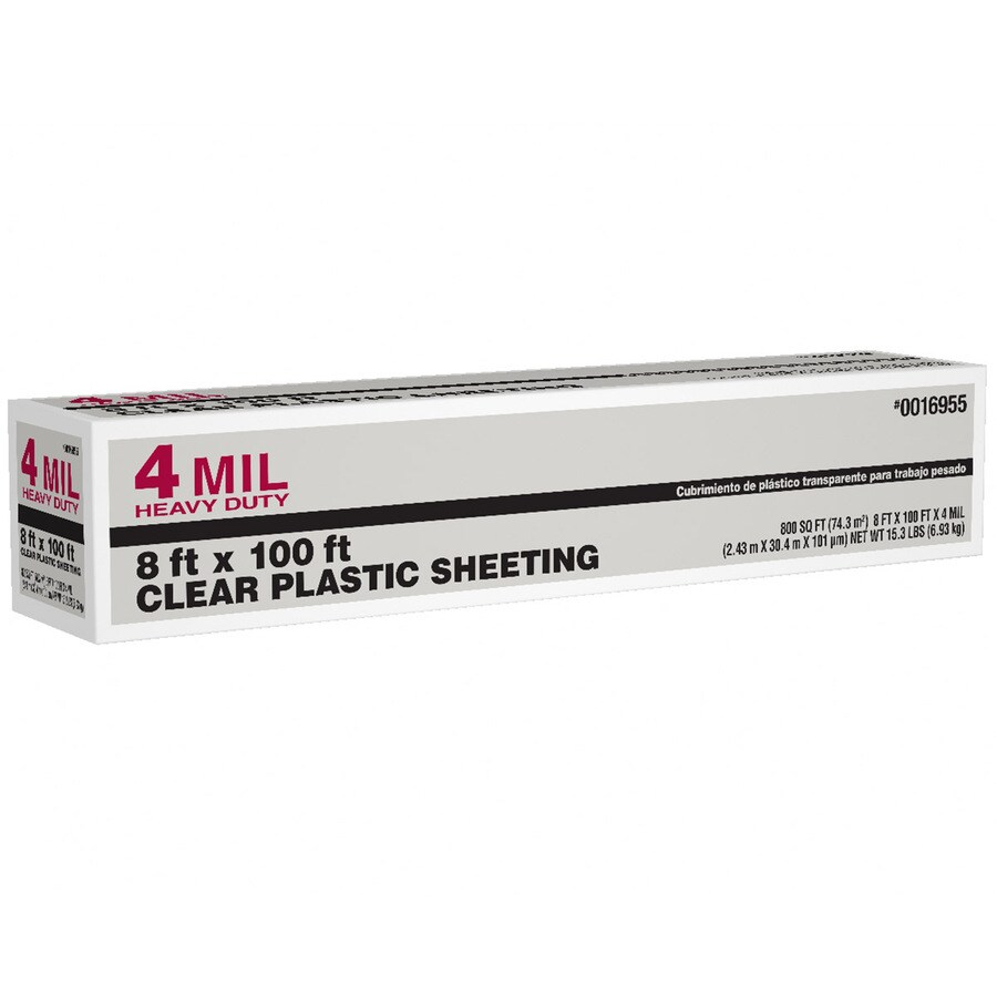 8-ft x 100-ft x 4-mil Clear Consumer Sheeting