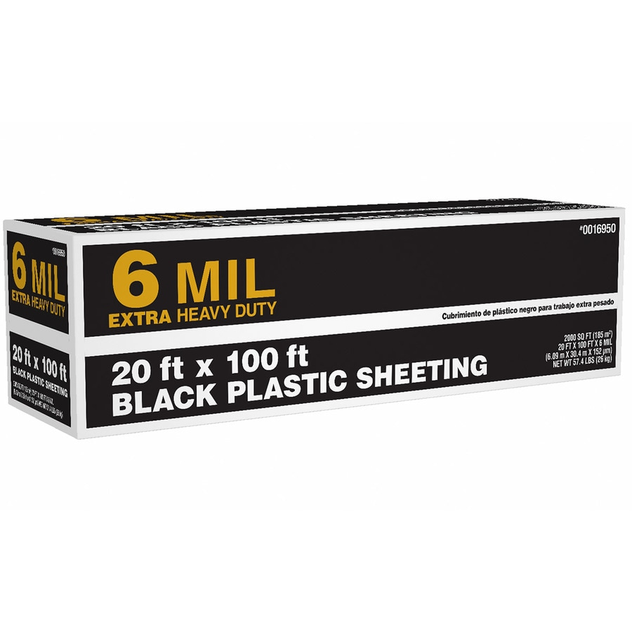 20 Ft X 100 Ft Black 6 Mil Plastic Sheeting In The Plastic