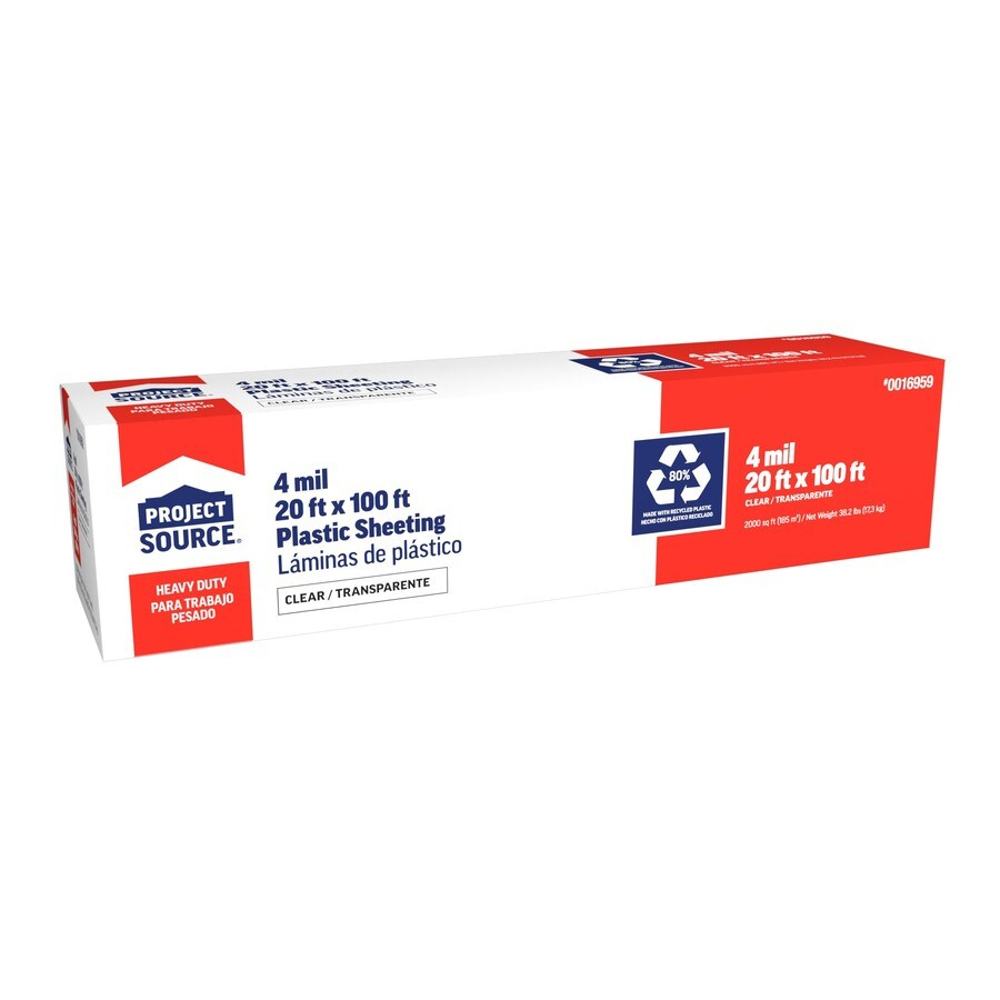 Blue Hawk 20-ft x 100-ft x 4-mil Clear Construction Film