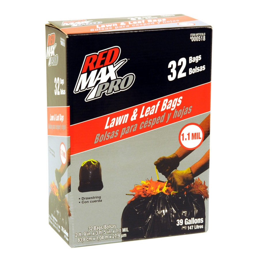 Red Max 32-Count 39-Gallon Outdoor Trash Bags