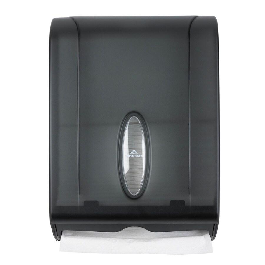Georgia-Pacific Translucent Smoke C-Fold Pull Paper Towel Dispenser