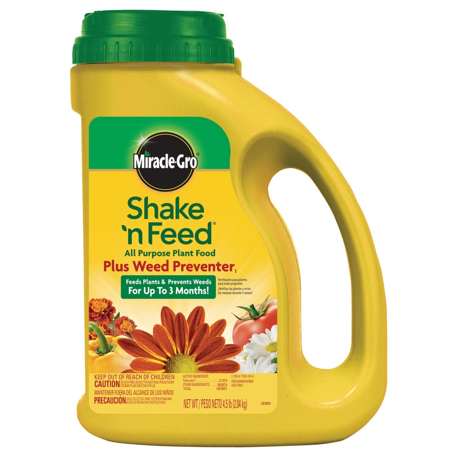 Miracle-Gro Shake 'N Feed Plus Weed Preventer 4.5-lb All Purpose Food (10-10-10)