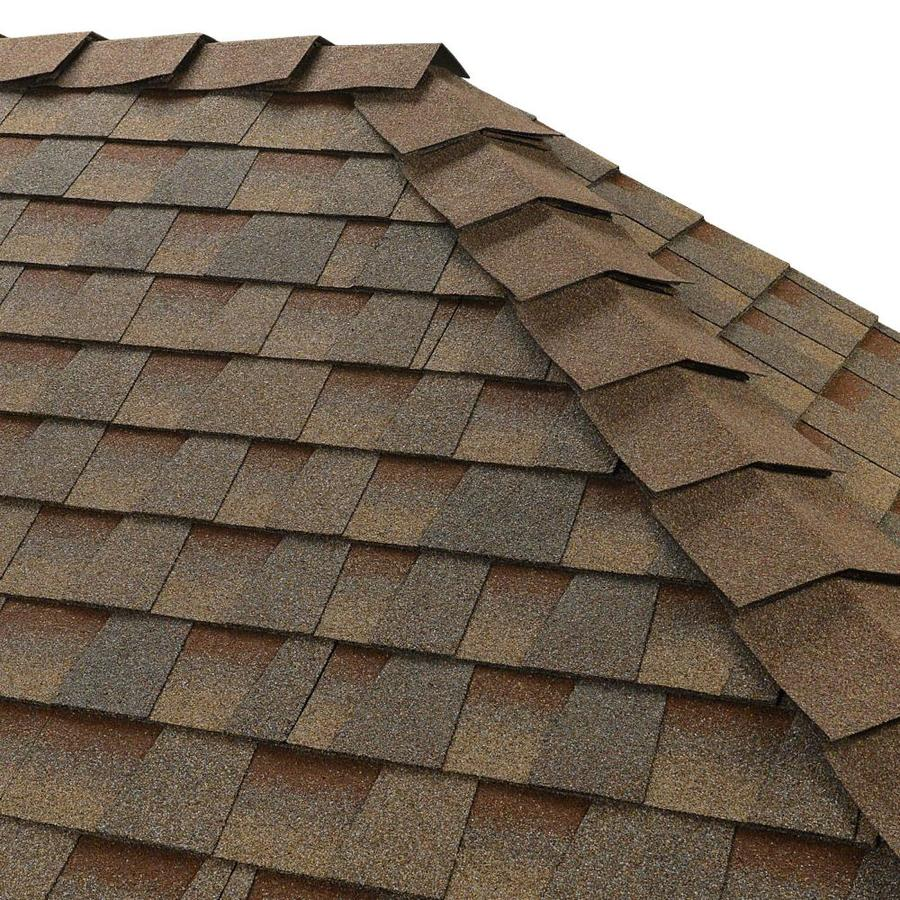 GAF Ridglass 31-lin ft Copper Canyon Hip and Ridge Roof Shingles