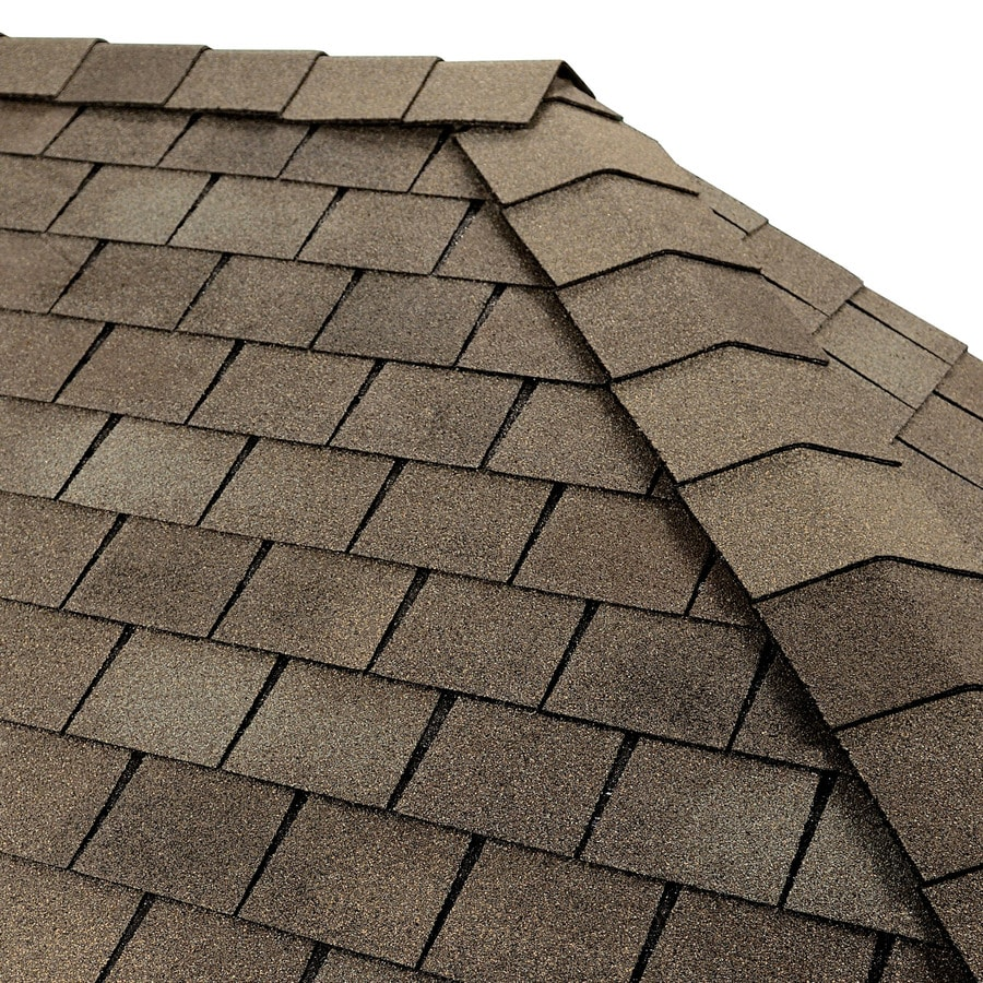 GAF TIMBERTEX 20-lin ft Weathered Slate Laminated Hip and Ridge Roof Shingles