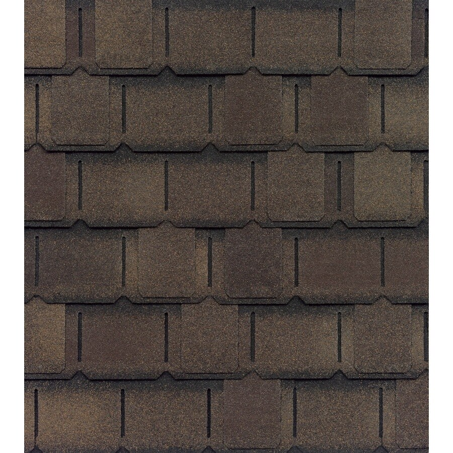 GAF Camelot II 25-sq ft Barkwood Laminated Architectural Roof Shingles