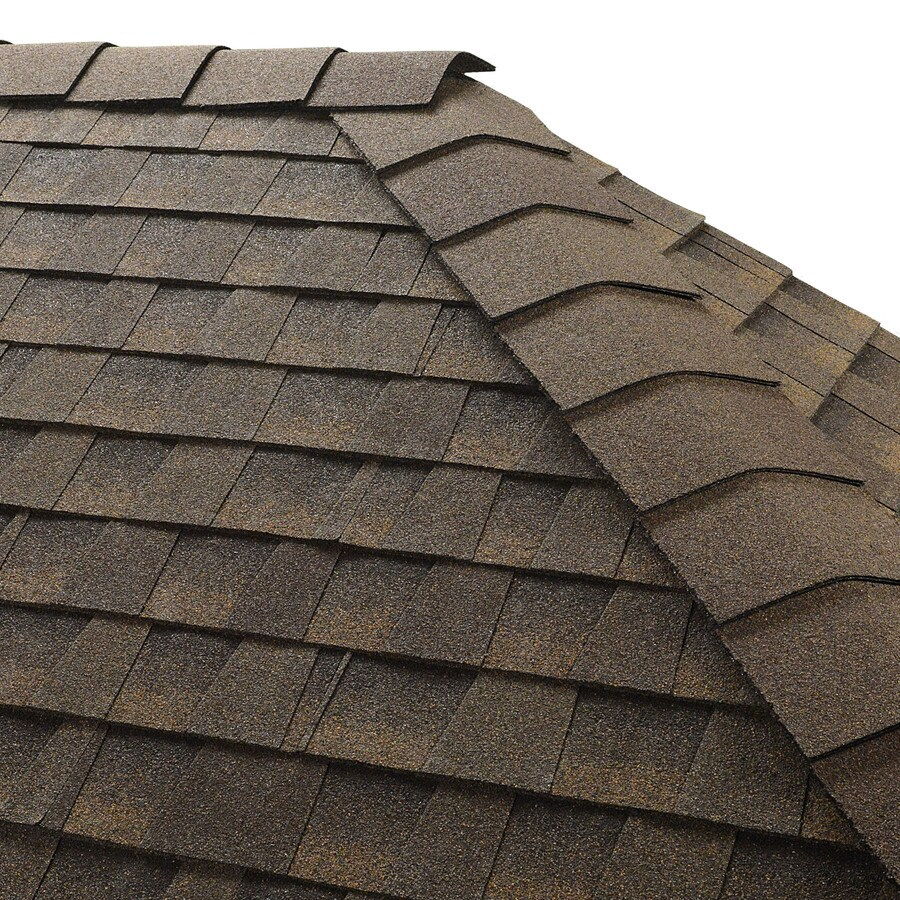 GAF TIMBERTEX 20-lin ft Barkwood Laminated Hip and Ridge Roof Shingles