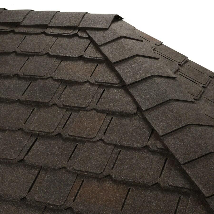 GAF TIMBERTEX 20-lin ft Sheffield Black Laminated Hip and Ridge Roof Shingles