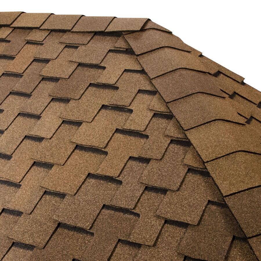 GAF TIMBERTEX 20-lin ft Cedar Laminated Hip and Ridge Roof Shingles