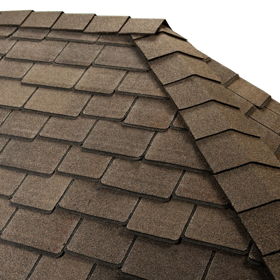 GAF TIMBERTEX 20-lin ft Woodberry Brown Laminated Hip and Ridge Roof Shingles