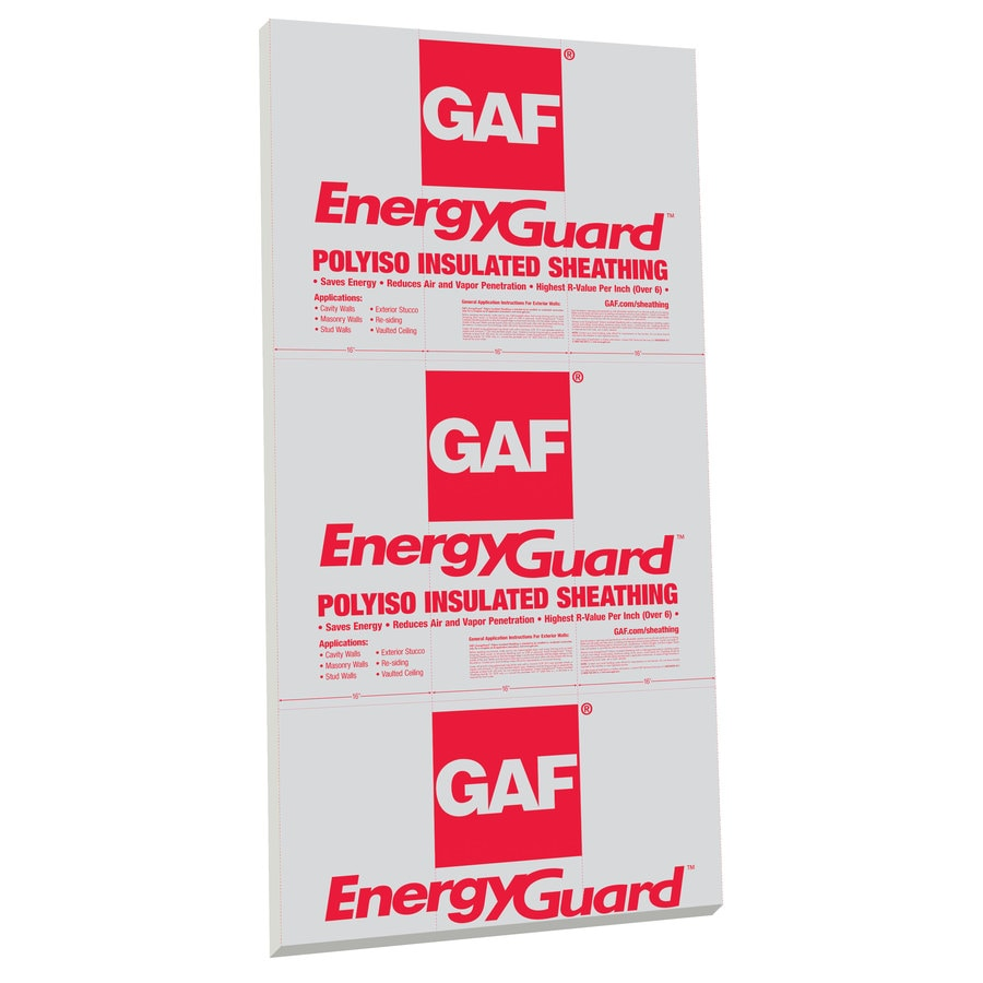 GAF R3.6 Faced Foam Board Insulation (Common: 0.5-in x 4-ft x 8-ft; Actual: 0.5-in x 4-ft x 8-ft)