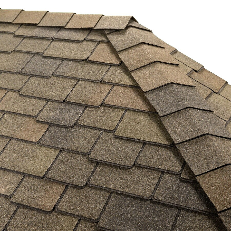 GAF TIMBERTEX 20-lin ft Mountian Sage Laminated Hip and Ridge Roof Shingles