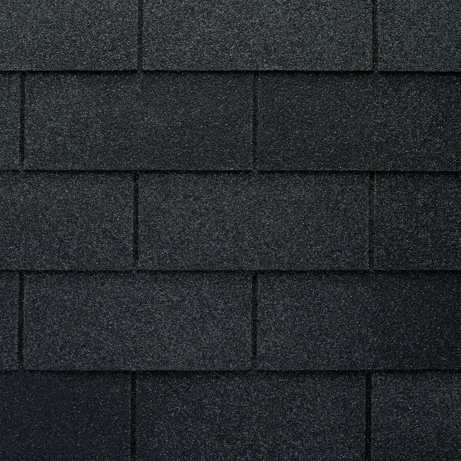 GAF Marquis Weathermax 33.33-sq ft Charcoal Laminated Traditional 3-Tab Roof Shingles