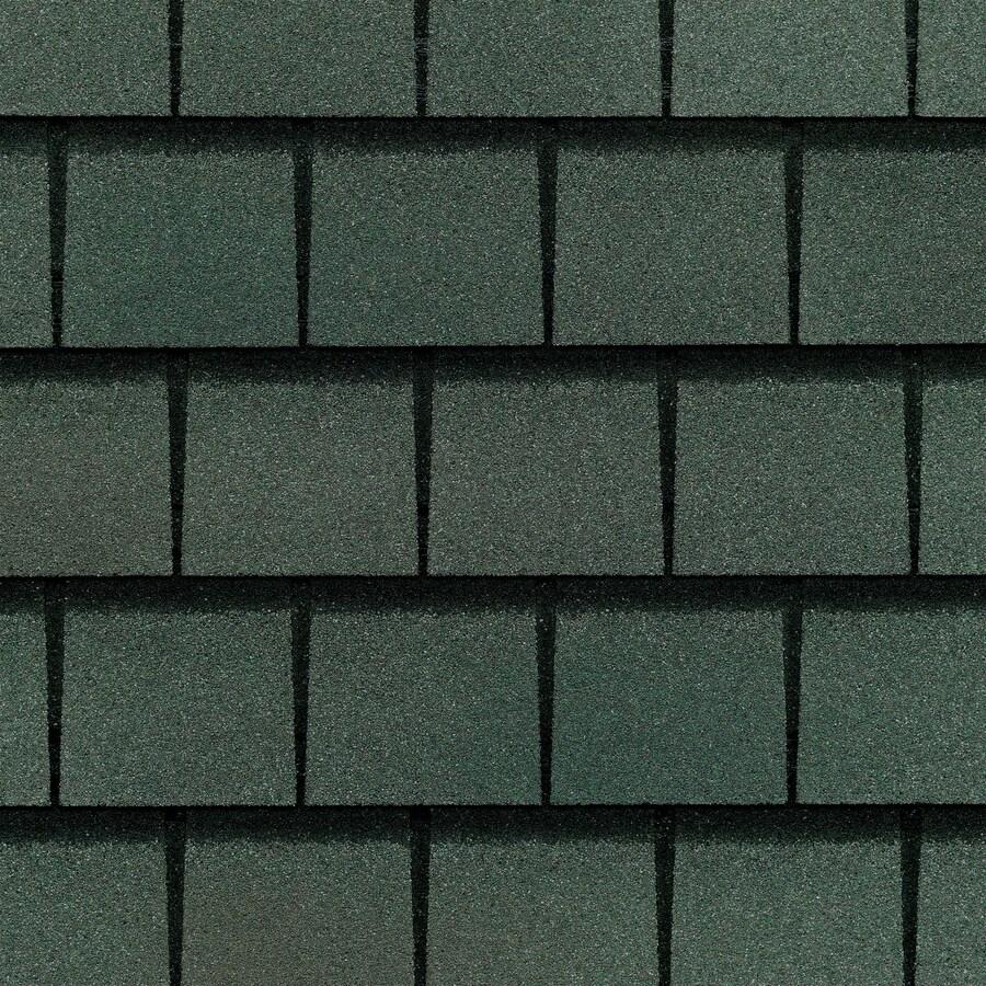 GAF Slateline 33.33-sq ft Emerald Green Architectural 5-Tab Roof Shingles