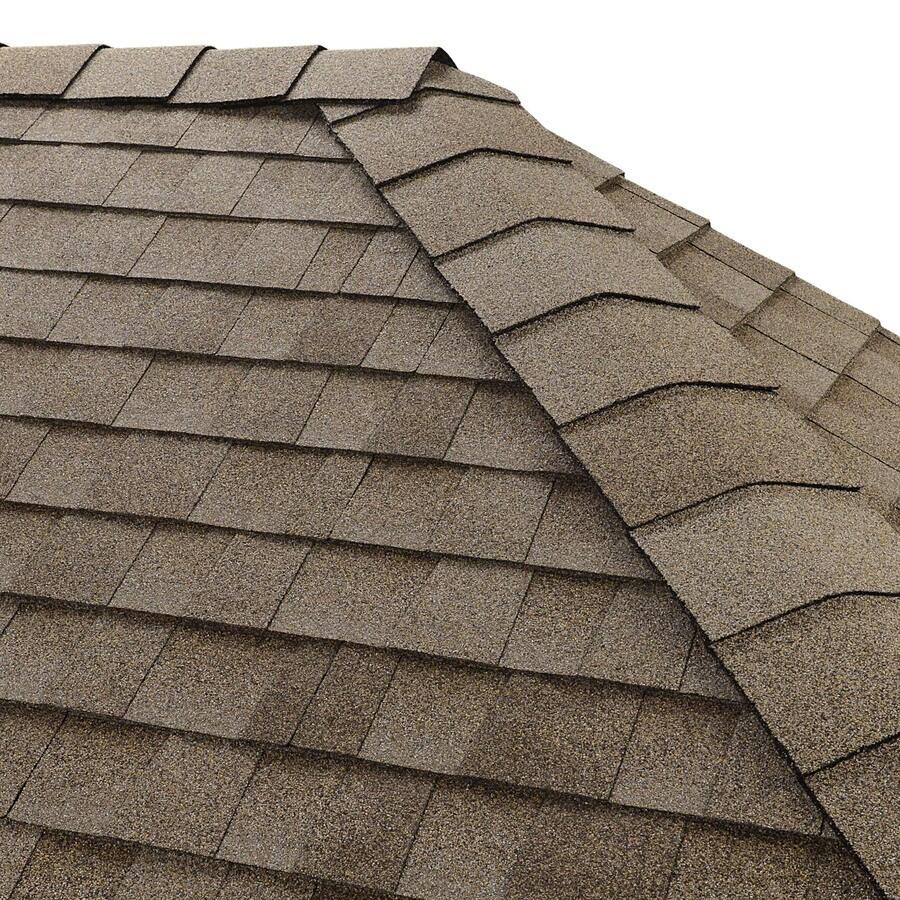 GAF Timbertex Natural Shadow 20-lin ft Driftwood Laminated Hip and Ridge Roof Shingles