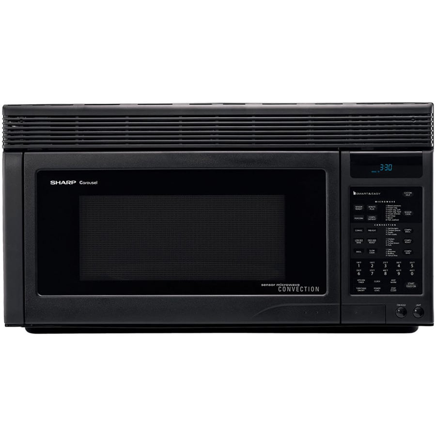 Sharp 1.1-cu ft Over-The-Range Convection Oven Microwave with Sensor Cooking Controls (Black) (Common: 30-in; Actual: 30-in)