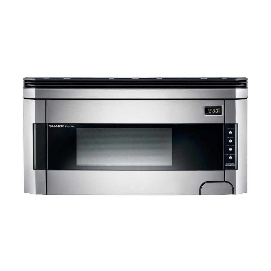 Shop Sharp 1 5 Cu Ft Over The Range Microwave With Sensor Cooking Controls Stainless Steel