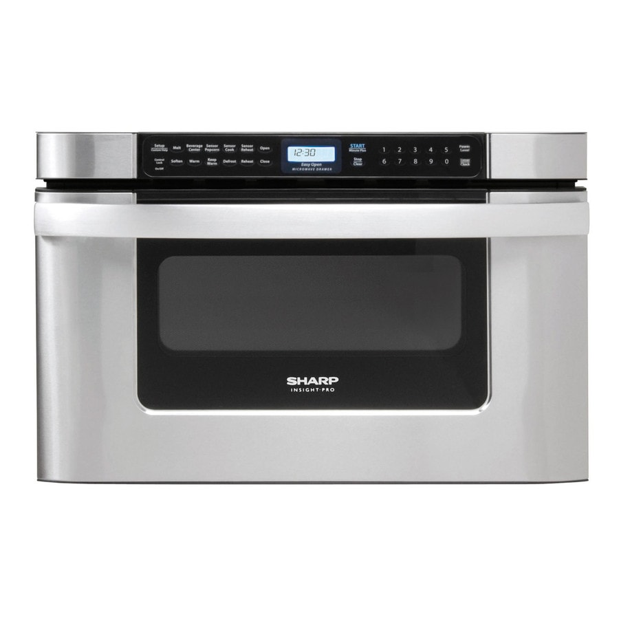 Sharp 1.2-cu ft Microwave Drawer (Common: 24-in; Actual: 23.875-in)