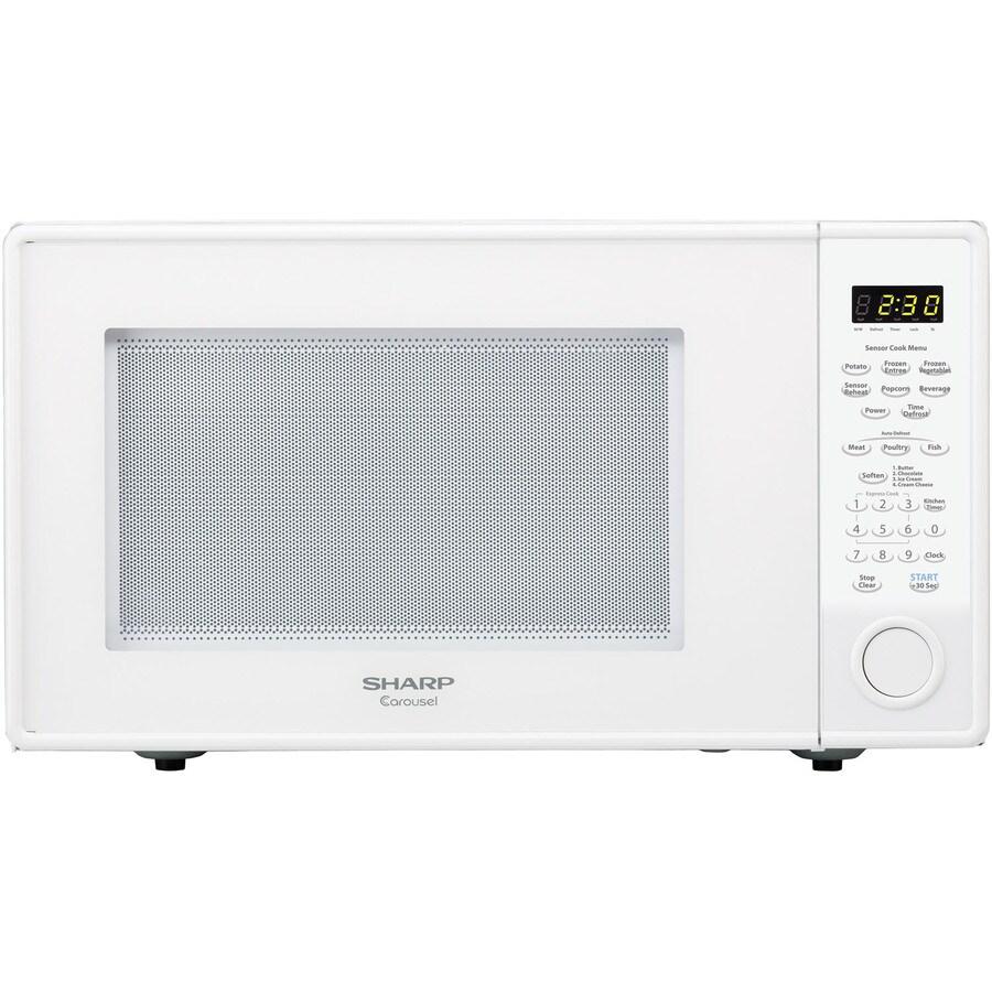 Sharp 1.8-cu ft 1100-Watt Countertop Microwave (White)