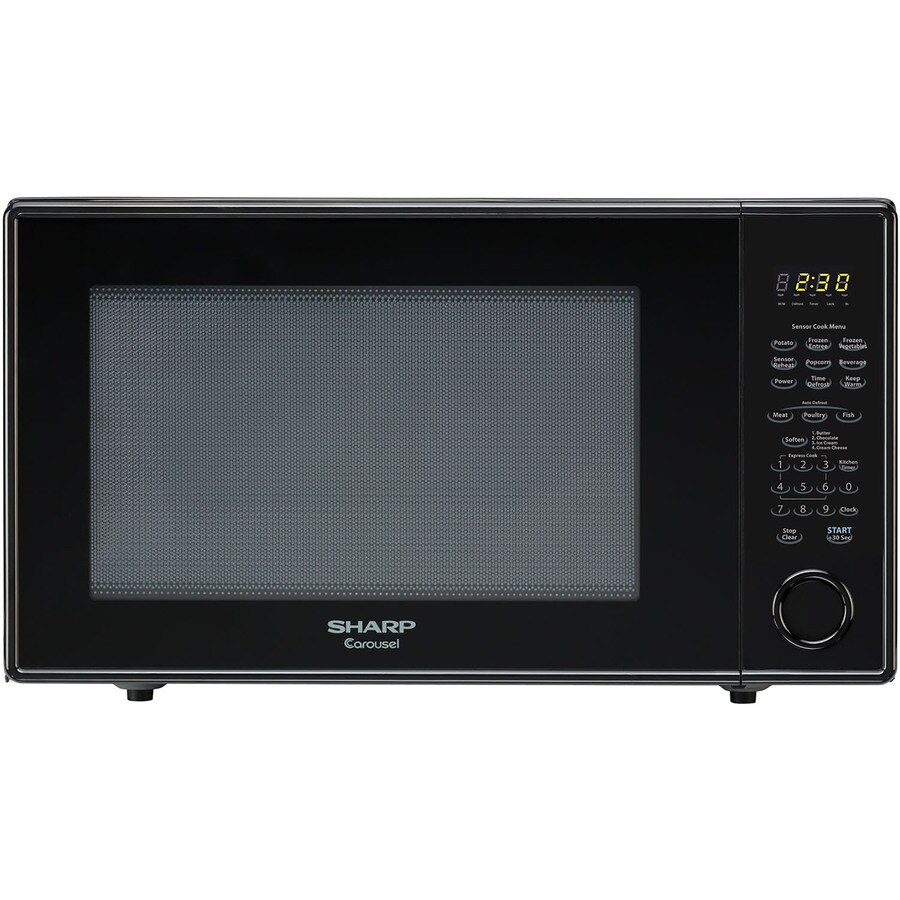 Shop Sharp 2.2-cu ft 1,200-Watt Countertop Microwave (Black) at Lowes ...