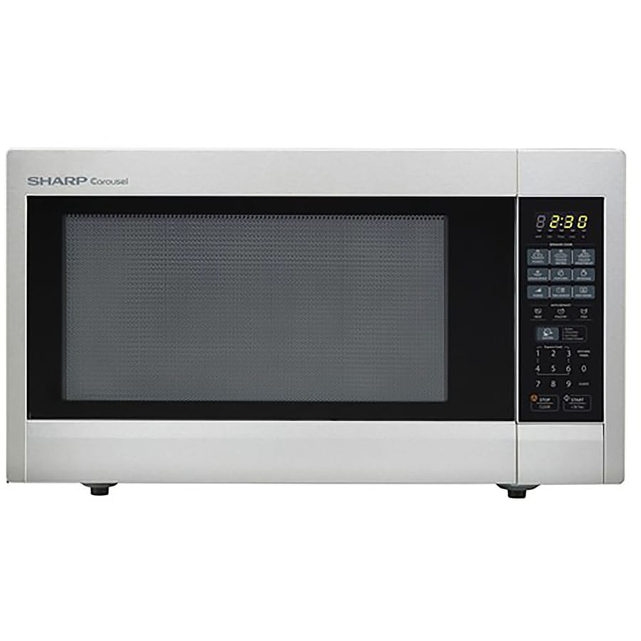 Sharp 2.2-cu ft 1,200-Watt Countertop Microwave (Stainless Steel)