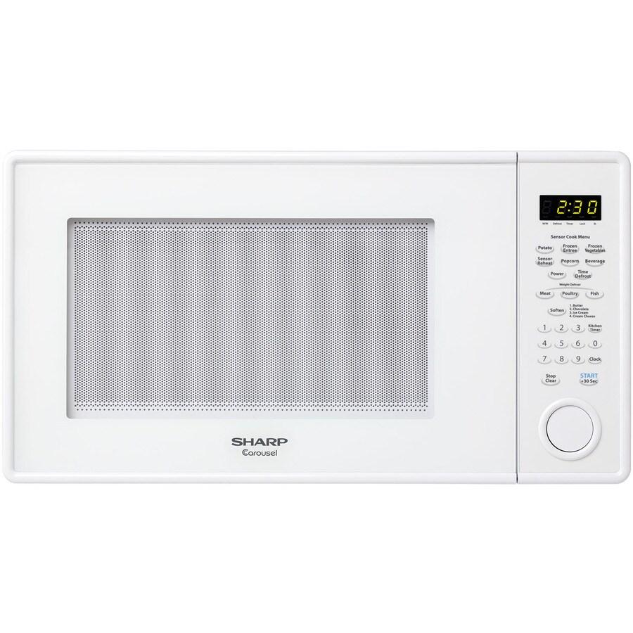 Sharp 1.3-cu ft 1,000-Watt Countertop Microwave (White)