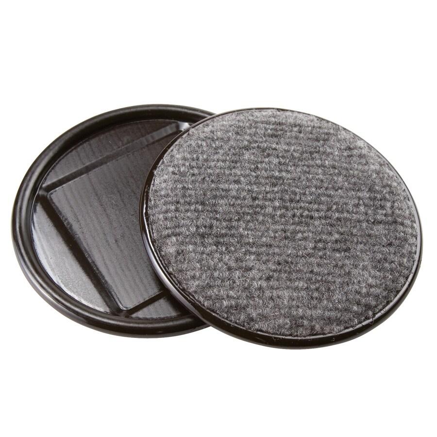 Waxman 4-Pack 4-in Brown Carpet Caster Cups