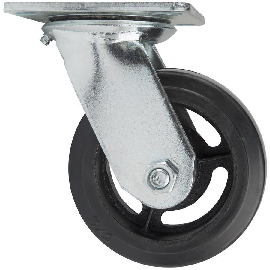 Waxman 5-in Rubber Swivel Caster